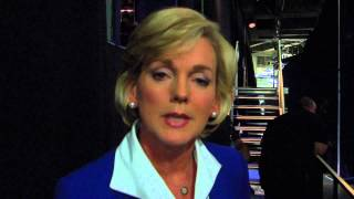 Jennifer Granholm Backstage at 2012 DNC