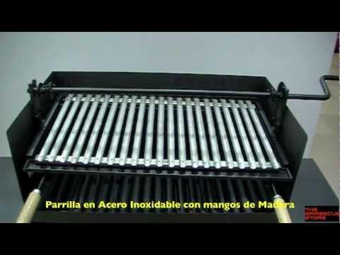 b3b0904ab96 Barbacoa con Ruedas Metálica y con Elevador Imex El Zorro - YouTube