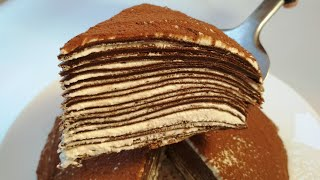 Блинный Шоколадный Торт. Шоколадный Торт из Блинов с Кремом Чиз. Торт без Выпечки