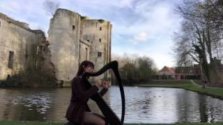Harp Music - Harp playing in the wind - Medieval Improvisation (played on Camac Bardic 27 harp)