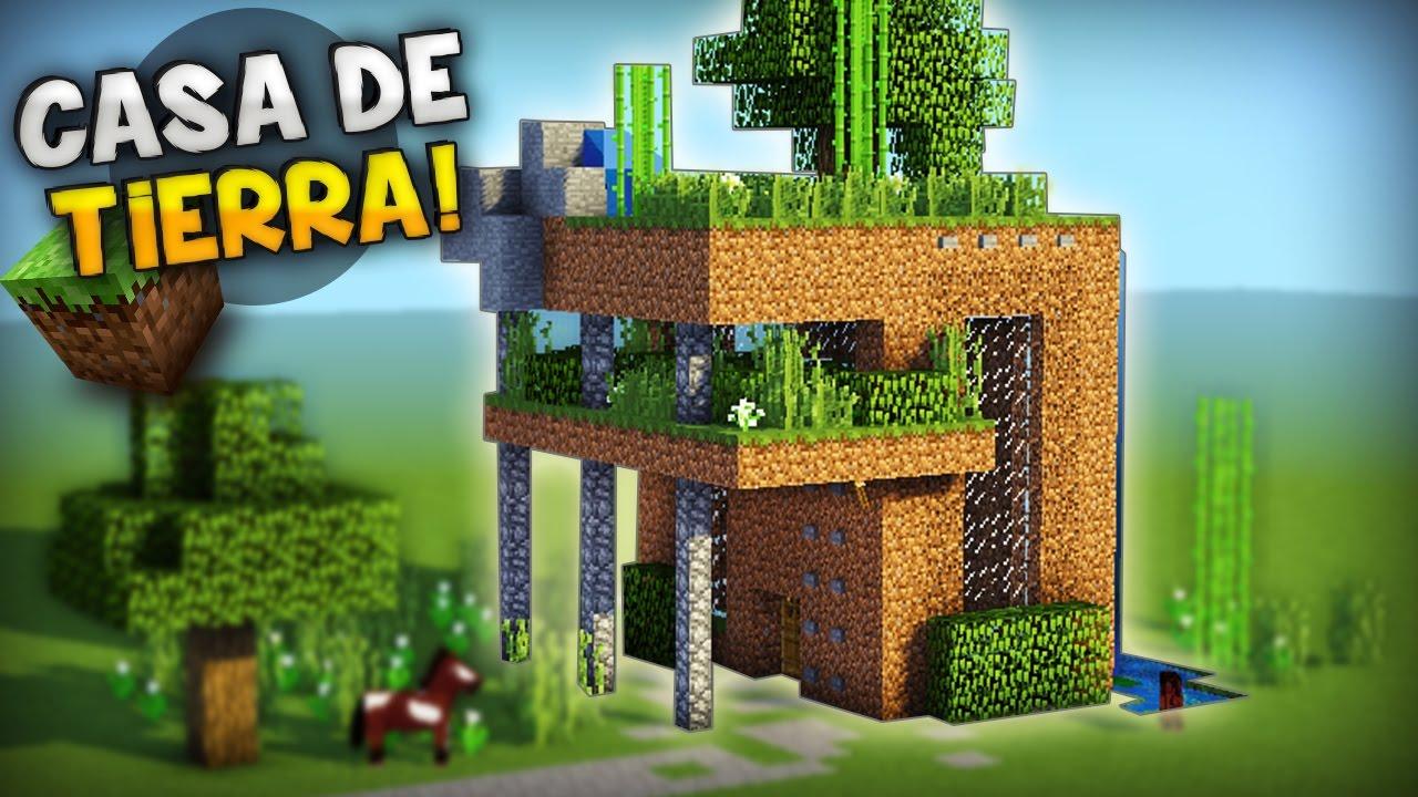 Minecraft construyendo con tierra casa moderna casa de for Ideas para construir una casa moderna