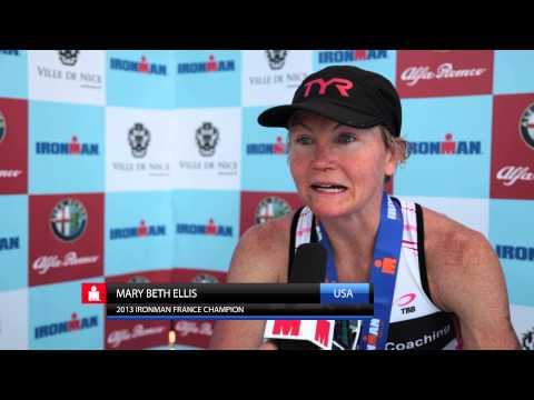 Mary Beth Ellis wins Ironman Nice 2013