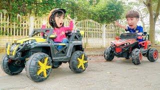 Kids Go to School pretend play Sales by Toy Cars! Kinderlieder Und Lernfarben