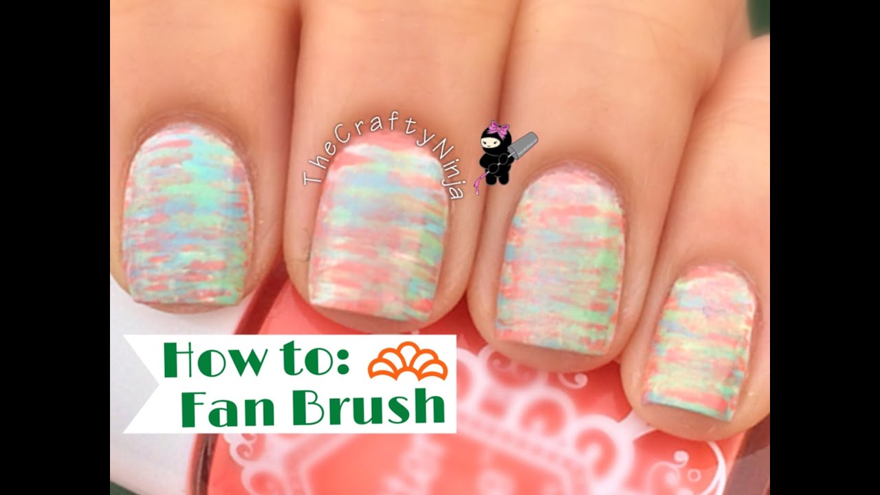 Easy fan brush nail art tutorial youtube prinsesfo Image collections