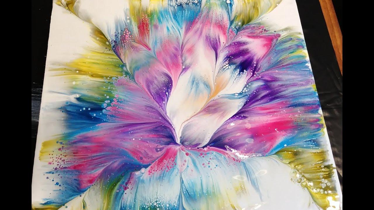 Fluid Acrylic Pour Painting Techniques Flowering Art Instruction Blog