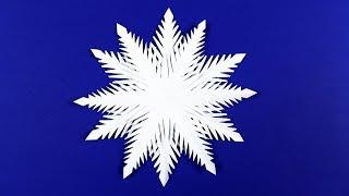 видео как сделать снежинку своими руками