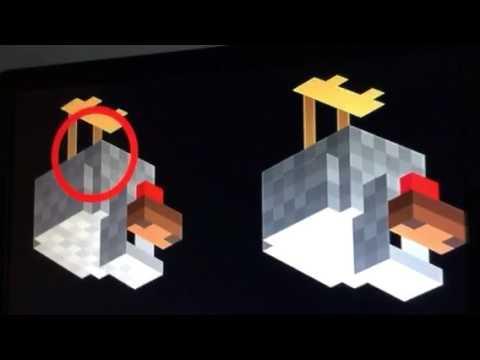 Upside down minecraft chicken - YouTube