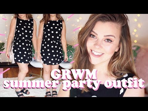 SIZE 14 GET READY WITH ME  SUMMER PARTY OUTFIT  LUCY WOOD