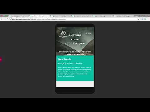 Wordpress Mobile & Tablet Responsive Website with Elementor