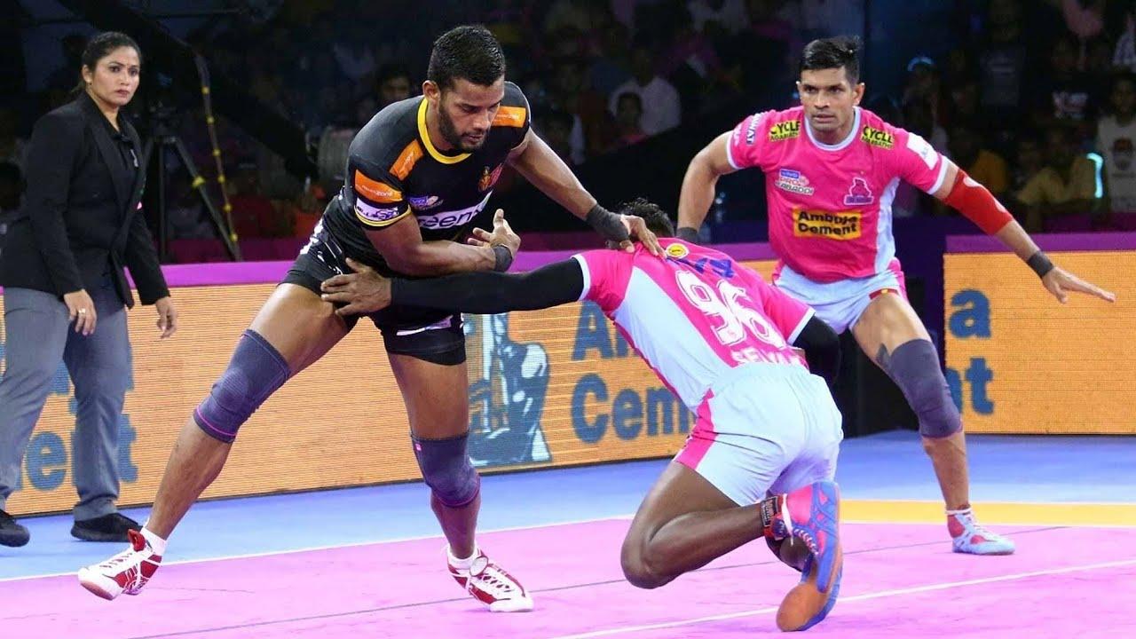 Download Pro Kabaddi 2019 Highlights |Jaipur Pink Panthers VsTelugu Titans | M110