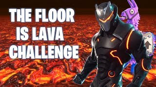 *THE FLOOR IS LAVA* Fortnite Battle Royale Challenge (PS4 Pro)