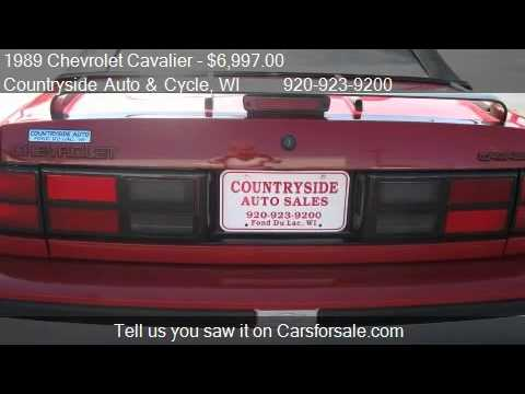 1989 Chevrolet Cavalier Z24 2dr Convertible for sale in Fond  YouTube