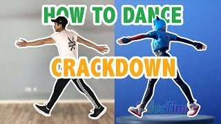How To Do The Crackdown Dance In Real Life (Fortnite Dance Tutorials #33) | Learn How To Dance