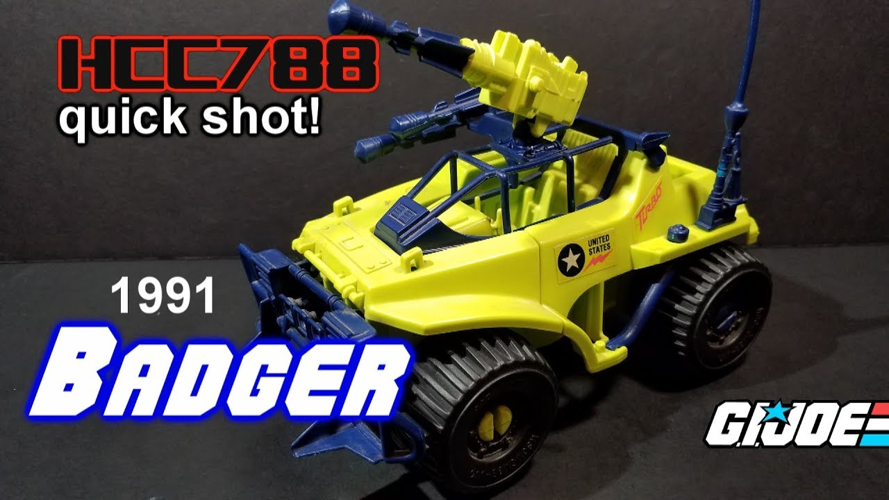 Video HCC788 quick shot! 1991 BADGER - Vintage G.I. Joe toy review!