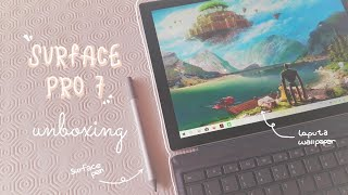 surface pro 7 💻| unboxing