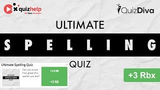 Ultimate Spelling Quiz Answers 100% | Quiz Diva | QuizHelp.Top