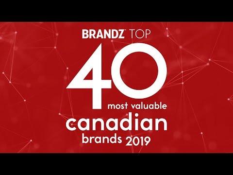BrandZ Top 40 Most Valuable   CANADIAN Brands 2019...