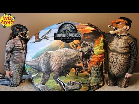 New Jurassic World Dino Rivals Giant Surprise Dinosaur Egg  Fallen Kingdom Dinosaur Toys Unboxing