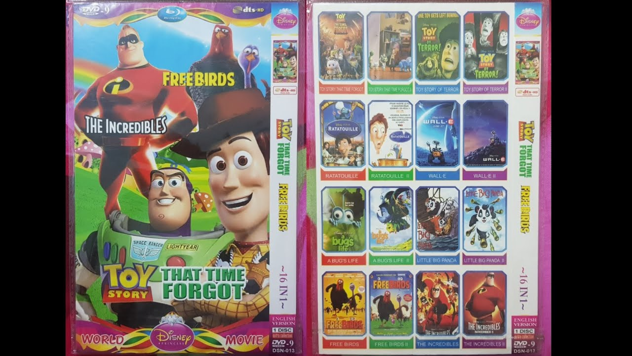 Download Toy Story That Time Forgot Free Birds The Incredibles (World Disney Princess Movie) DVD Menu 2020