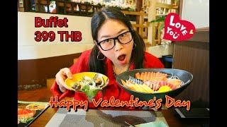 Japanese restaurant Buffet 🌟 สุขสันต์วันวาเลนไทน์ ขอให้ทุกคนมีความสุขมีความรักที่สวยงามน๊า😊💓