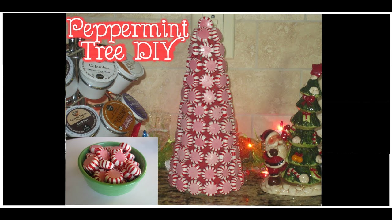 minute diy christmas decor peppermint mini tree youtube - Peppermint Christmas Decorations