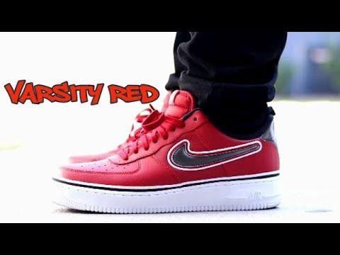 Nike Air Force 1 (AF1) Low 07 LV8 Sport NBA Varsity Red Sneaker Review & On Feet