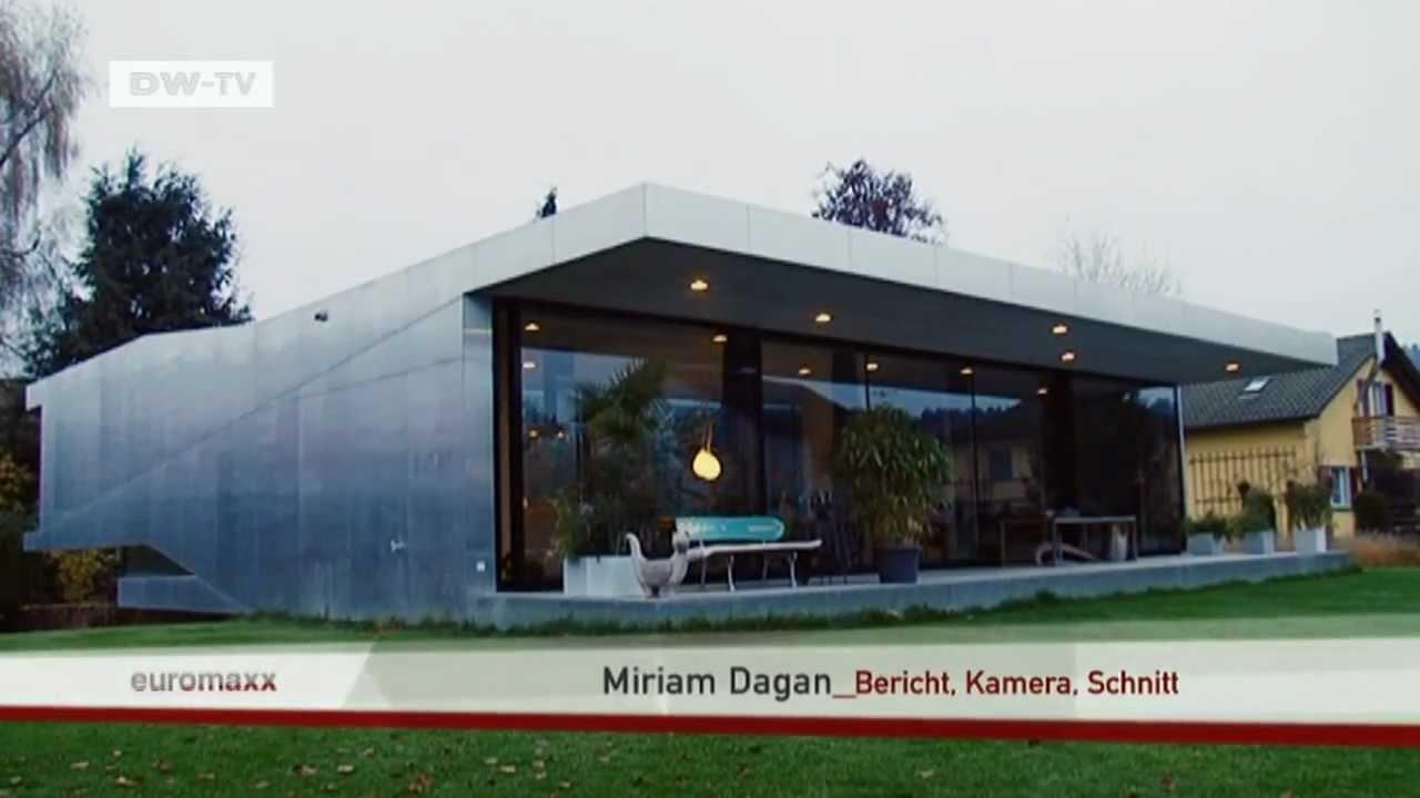 Wohnhaus aus glas und aluminium euromaxx ambiente youtube for Modernes haus viel glas