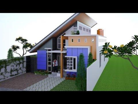 MODEL RUMAH ATAP MIRING DENGAN ROOFTOP GARDEN PALING KEREN - YouTube