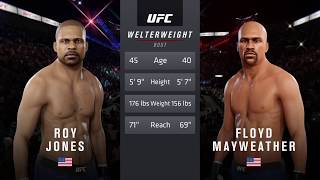 Roy Jones vs. Floyd Mayweather (EA sports UFC 3) - CPU vs. CPU