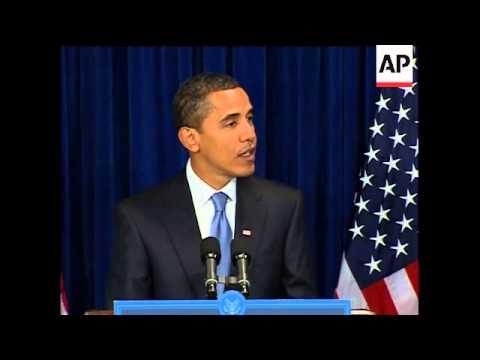 US President-elect Obama gives news conference on economy, Gaza