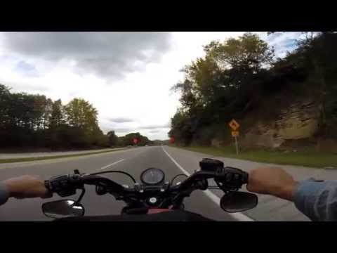 Harley Davidson 48: GoPro ride from Pineville to Corbin, Ken