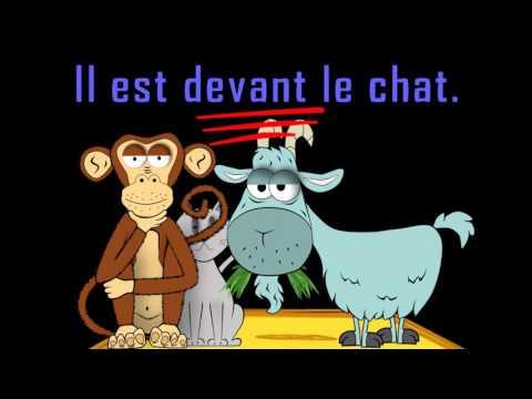 Où est le chat? - alain le lait - prépositions - French prepositions