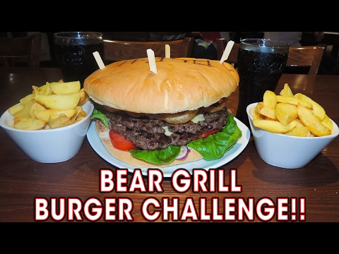 BEAR GRILL BURGER CHALLENGE IN STAFFORD!!