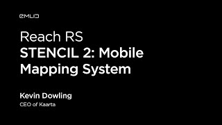STENCIL 2: Mobile Mapping System with Reach RS | Live from Intergeo 2018