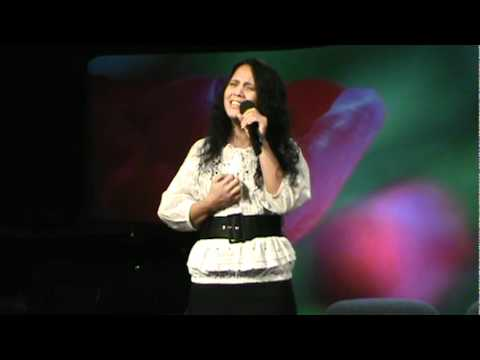 Celestine Barry sings at the Thompsonville Seventh-day Adventist Church.