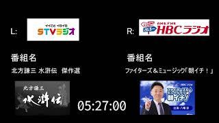 【2017年9月27日 5時22分頃の地震】北海道AM局比較