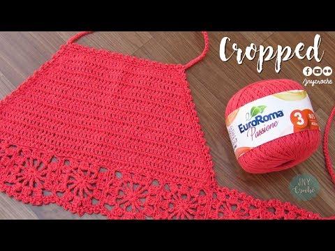 Top Cropped de crochê | todos os tamanhos - JNY Crochê