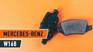 Hogyan cseréljünk Fékbetét készlet MERCEDES-BENZ A-CLASS (W168) - online ingyenes videó