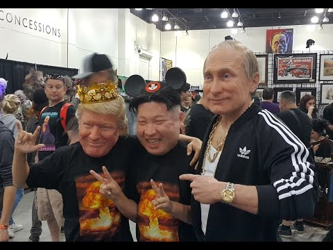 Trump, Putin, Kim Jong Un - Hyperflesh Masks - Monsterpalooza 2017