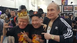 Trump, Putin, Kim Jong Un - Hyperflesh Masks - Monsterpalooza 2017