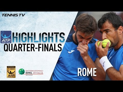 Highlights: Dodig Granollers Fight Into Semis In Rome 2017