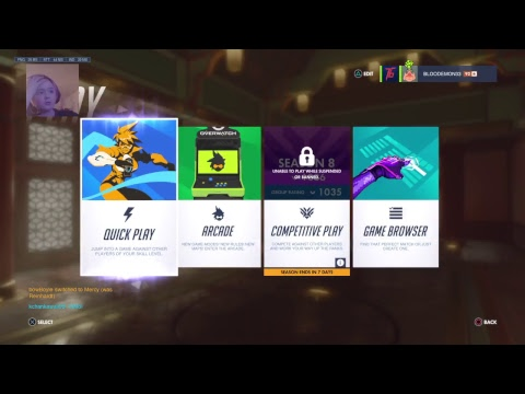 Blood Playing Overwatch and try HARDING