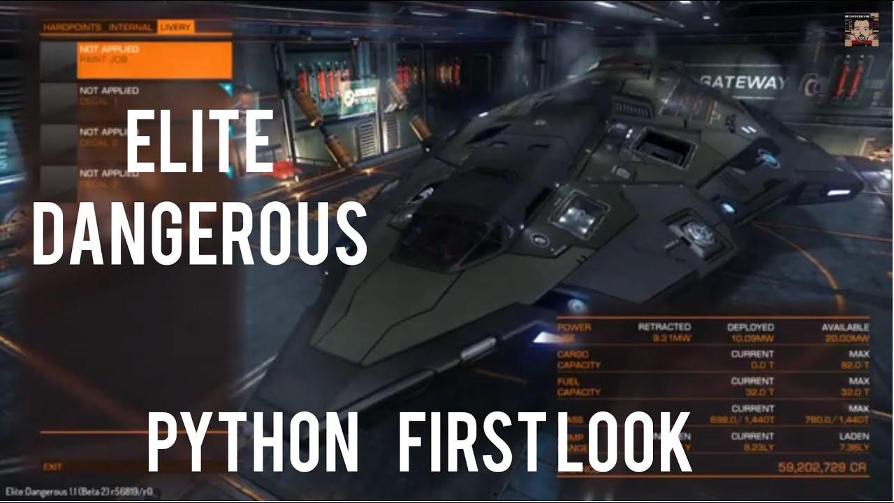 Elite Dangerous | Python first look - cockpit | specs | takeoff | docking