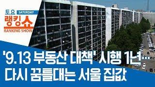 '9.13 부동산 대책' 시행 1년…다시 꿈틀대는 서울…