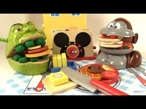 Shrek et le Singe Petit Déjeuner Gauffres Toasts Mickey Mouse en Bois à Découper