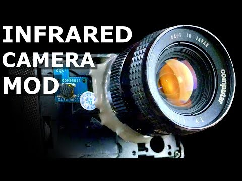 How To Mod A Cheap Action Camera To Use C-Mount Lenses For Infrared Videography & Time Lapse