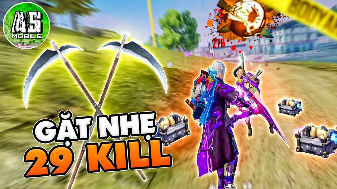 [Free Fire] AS Dùng Lưỡi Hái Gặt 29 Kills Headshot | AS Mobile