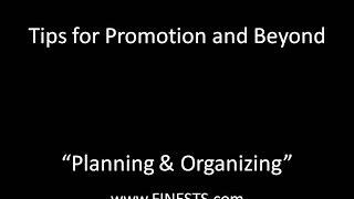 Planning & Organizing Tips