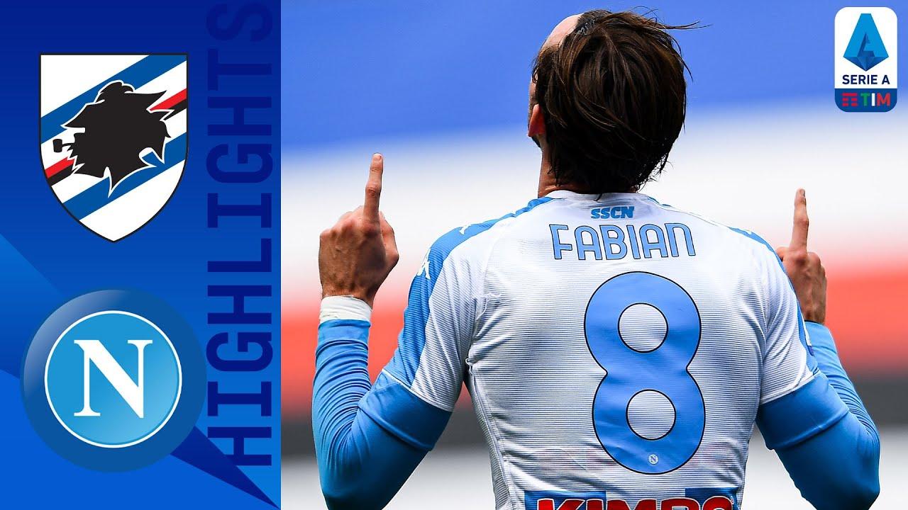 Sampdoria 0-2 Napoli   Fabian Ruiz and Osimhen on Target for Napoli!   Serie A TIM