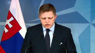 NATO Secretary General - Joint Press Point w/ Prime Minister of Slovakia